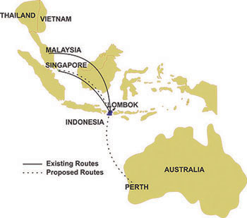 International Routes to Lombok